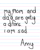 Мої мама і тато розлучаються. Мені сумно. Емі