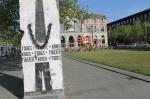 частина берлінського муру встановлена на вокзалі Бремену