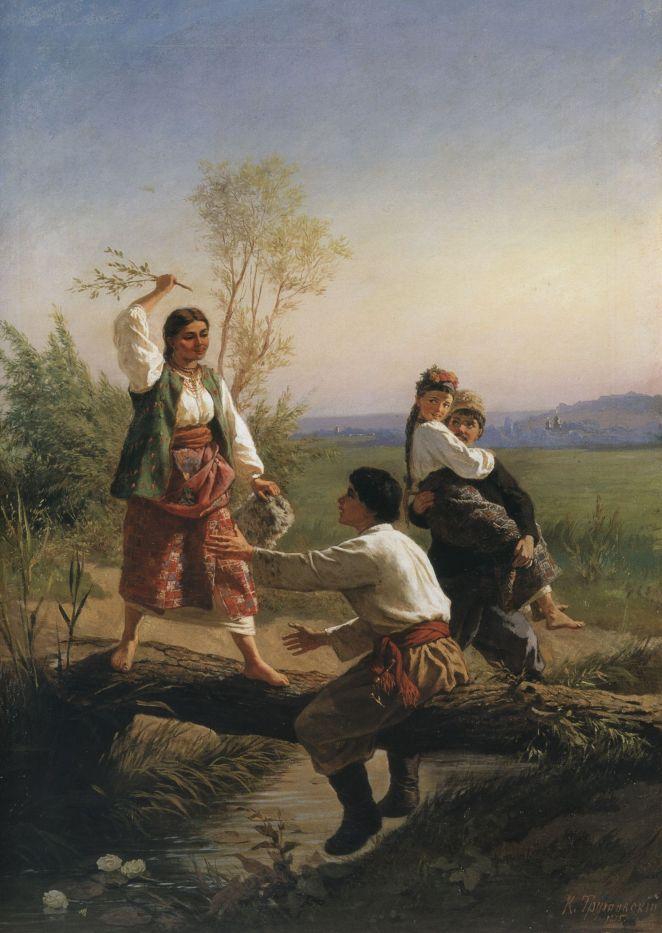 Костянтин-Трутовський.-Через-кладку.-1875.-НХМУ.1