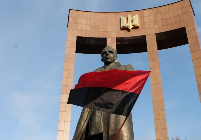 Monument to Stepan Bandera in L'viv
