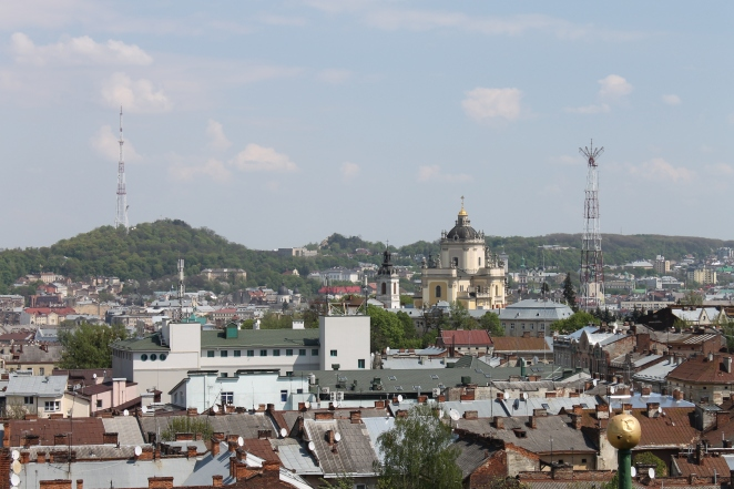 Львів. Вигляд з костелу Ольги і Єлизавети