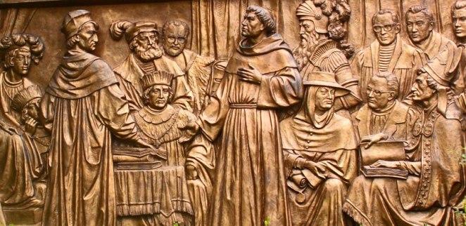 Мартін Лютер у Вормсі перед імператором